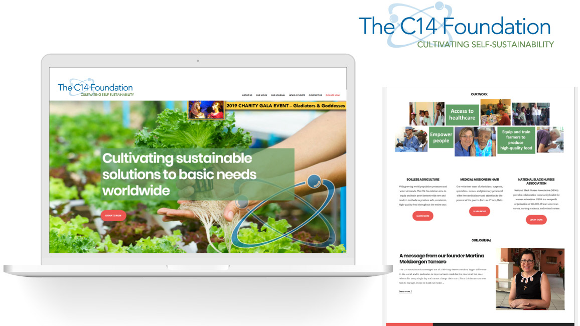 The C14 Foundation brand and website